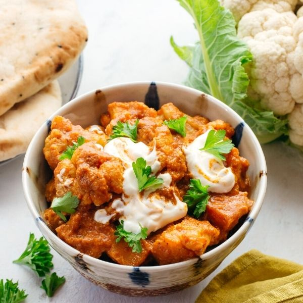 Cauliflower and Fragrant Sweet Potato Butter Curry